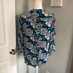 STYLUS Tops - Stylus Blue & Black Patterned Blouse